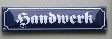 Bild Strassenschild Handwerk